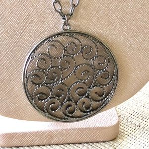 Jewelry - Scrolled Medallion Necklace